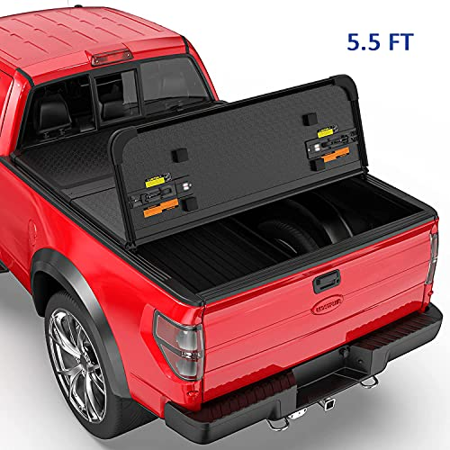 MOSTPLUS Tri-Fold Hard Truck Bed Tonneau Cover On Top Compatible for 2015-2020...