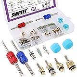 Swpeet 78Pcs R12 R134a Valve Cores Repair Kit, Including Assortment R12 R134a Air Conditioning Valve Core...