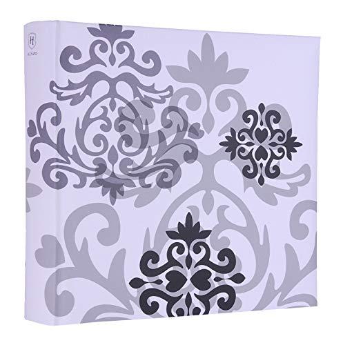 Quantio HENZO Fotoalbum oder Einsteckalbum Baroque - für 200, 300 oder 500 Fotos 10 x 15 cm, Weiß, Ausführung:Einsteckalbum 200 Bilder