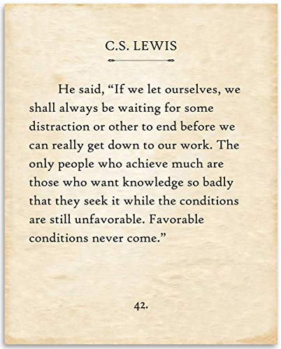 C.S. Lewis - If We Let Ourselves - 11x14 Unframed Typography Book Page Print - Great Gift for Historical, Biblical and Theologian Book Enthusiasts Under $15