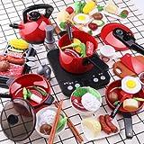 Lihgfw Küche Kinderspielzeug for Mädchen, Chichile Spielzeug, Jungen, Kochen und Kochen, Baby 2-16 Jahre alt Geschirr Set, Geburtstagsgeschenk 56-teiliges Set (Color : Multi-Colored)