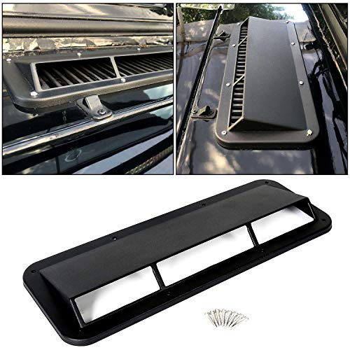 ECOTRIC Hood Scoop Ram Air Vent Scoop Ram Air Induction Replacement for #13307.01 for Jeep CJ Wrangler YJ 1978-1995
