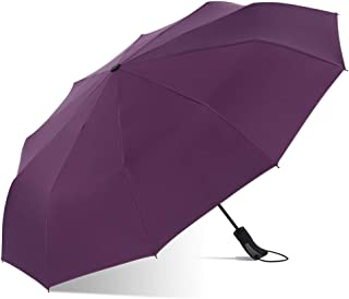 YQRYP Umbrella Automatic Business Water-Repellent Anti-Wind Umbrella Simple Folding Dual-use Umbrella Windproof Umbrella, Golf Umbrella (Color : Purple)