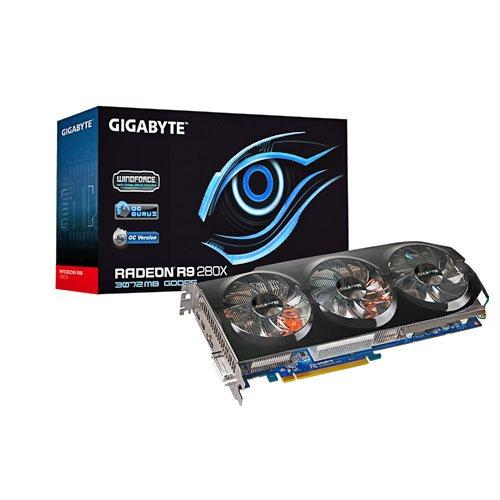 Gigabyte R9 280X Windforce AMD Grafikkarte 28XOC-3GD Rev 2.0 (PCI-e, 3GB, GDDR5 Speicher, DVI, 1 GPU)