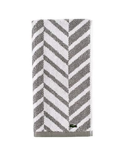Lacoste Herringbone - Toalla de algodón 100% (16 x 30 cm), Color café