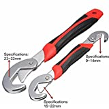 A & Y Traders 2pcs Multi-function Universal Quick Adjustable Wrench Spanner Set