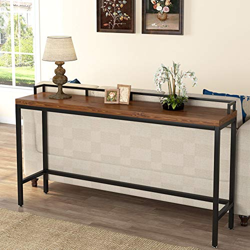 Tribesigns 70.9 inch Extra Long Solid Wood Console Table Behind Sofa Couch, Industrial Narrow Entryway Table Long Skinny Table for Living Room, Hallway, Small Space