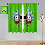 ARYAGO Cortinas decorativas Rick and Morty, cortina impermeable de ventana Rick Sanchez, para habitación de niños, 106 x 137 cm