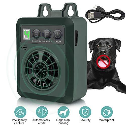 Antibellhalsband, Ultraschall Anti-Bell Gerät,Humane & Harmlose Hunde Bellkontrolle Stopper, Anti-Belltrainingshalsband Abschreckung bis zu 50 Ft Reichweite, Wasserdichte Innen- und Außenanwendung