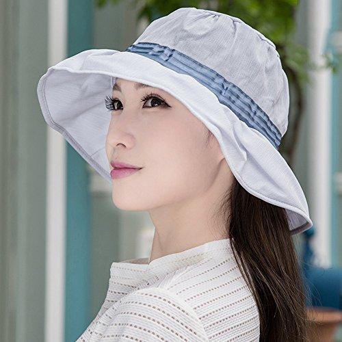 BJL-Sonnenhut Frauen breit-Kappe vielseitige Sonnencreme Floppy Falten Sonnenschirm UV atmungsaktiv Reise-und Freizeit-Kappen (16 Farben optional) OYO (Color : 13)
