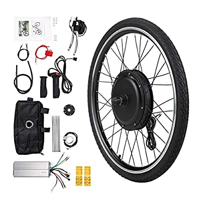 "JAXPETY 26"" E Bike Front Wheel 36V 500W Electric Bicycle Cycle Ebike Hub Motor Conversion Kit Hub Motor Wheel"
