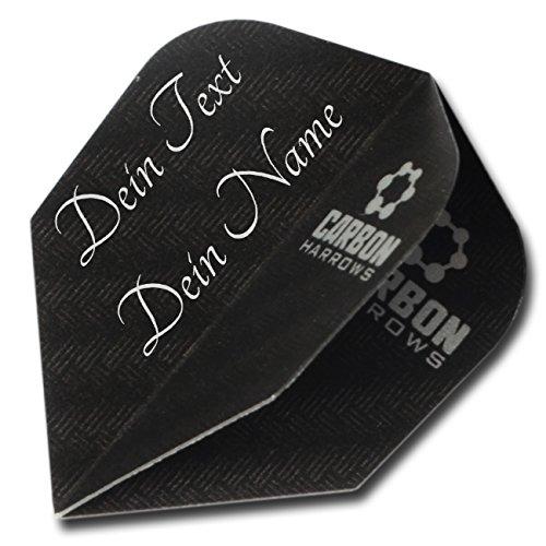 3Dglas Carbon Dart Flight mit Gravur | Text oder Logo | Das Geschenk für Dartspieler