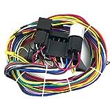 Tickas Cavi Cablaggio, Cablaggio Universale A 12 Circuiti Cablaggio di Sicurezza per Auto Kit Completo Kit Hot...