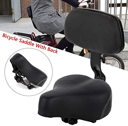 Bicycle Saddle Seat with Backrest Support Soft Back Tricycle Saddle Seat for Electric Vehicle Tricycle Road Bicycle Mountain Bike Universal