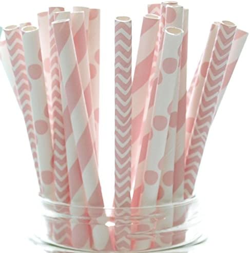Food Luxury With Fashion Baby Girl Pink 25 Seattle Mall Pack - Shower Straws
