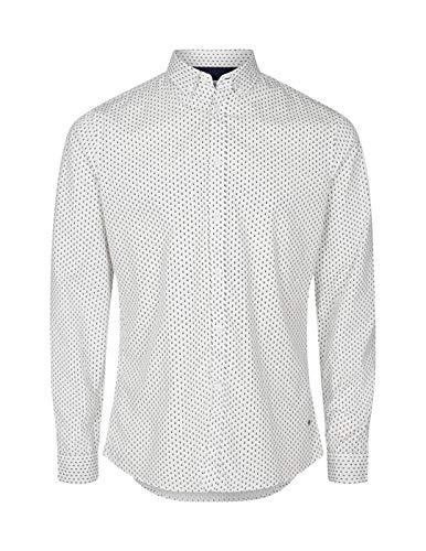 !Solid Shirt Juan Sergant Spring Off White Details Zwart Wit Zwart Wit 6190119