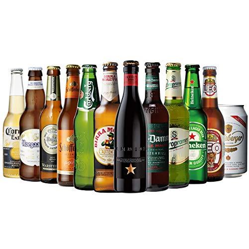 ビールセット 世界のビール12本飲み比べギフトセット スペイン産高級ビール入!スペイン・ドイツ・ベルギーなどビール本場より大集結!全種類の商品説明がわかるビールリスト付 (14弾)