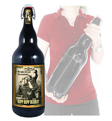 Hipp Hipp Hurra - 3 Liter XXL-Flasche Bier mit Bügelverschluss