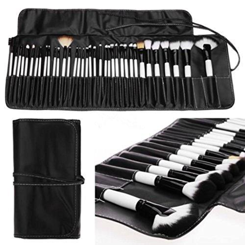 kingko® 36PCS / set souple cosmétique professionnelle pinceaux de maquillage Sourcils Ombre Kit Brush Set + étui en cuir