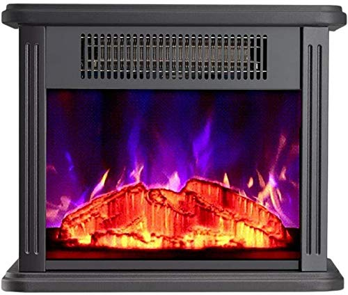 BJYG Kaminheizung Lebensechte Flamme mit Fernbedienung Einstellbare Temperatur Freistehender Desktop Wohnzimmer Desktop