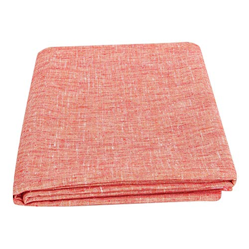 Arya Exports- Unstitched Cotton Linen Fabric Suitable for Shirt and Kurta and Others Decoration Fabric 3mtr Cut, Linen red