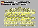 Ecoshirt N1-YFRM-Z0ME Aufkleber Ghost F188 Vinyl Adesivi Decal Aufkleber-Set ungemoppy MTB Stickers...