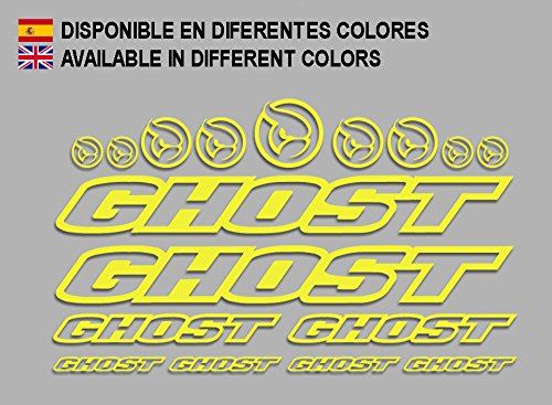 Ecoshirt N1-YFRM-Z0ME sticker Ghost F188 vinyl sticker Decal Sticker Decal Sticker MTB fiets geel