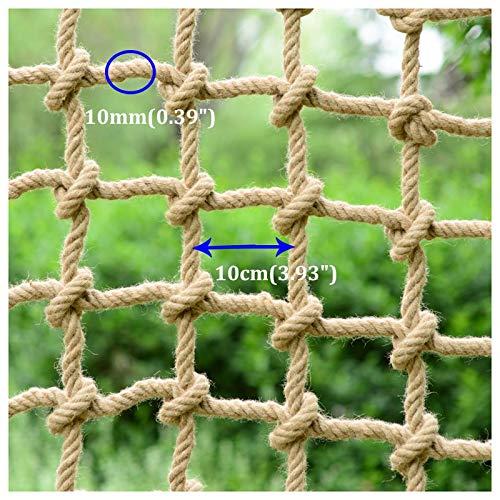 XXN Red de Cuerda,Protección Exterior Barandilla Escalera Valla Red Jardín Planta Escalada Creciente Red,Fuerte y Resistente ai Desgaste,la Malla Tiene un Diámetro de 10mm(0.39 Pulgadas): Amazon.es: Jardín