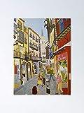 AZSTEEL Póster de Toledo España 11.7 x 16.5
