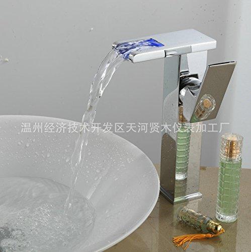 Maifeini corta circular cristal grifo cae, solo agujero cromo plata llevó la boquilla de cristal cascada sola manija grifo multicapa galvanoplastia