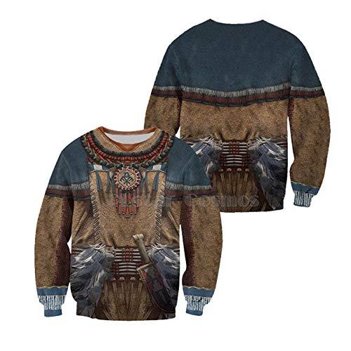Native Indian 3D Hoodies/Sudaderas Impreso Otoño Invierno Hombres/Mujeres Streetwear Halloween Cosplay Ropa...