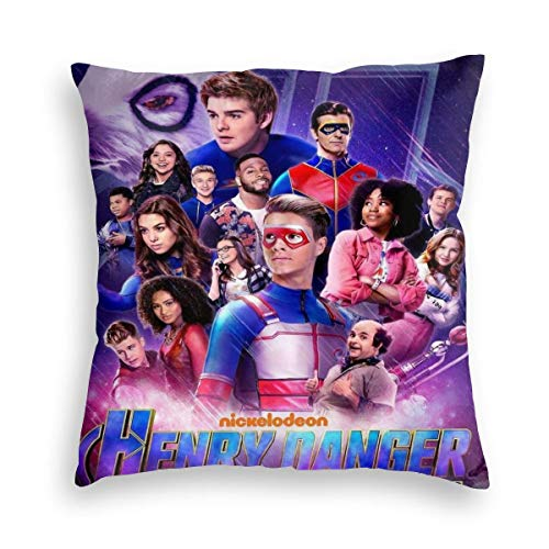 """YGHAPPY Dan-ger Hen-ry Poster Velvet Throw Pillow Cover Decor Fashion Pillows Case Square Cushion for Chair Home Bedroom 26""""x26"""""""
