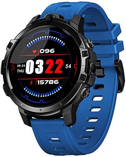 Reloj inteligente Smartwatch fitness tracker 1.6 pulgadas pantalla grande 830 mAh gran capacidad de la batería 4G+64G tarjeta SIM de memoria grande se puede insertar GPS navegación global-Azul