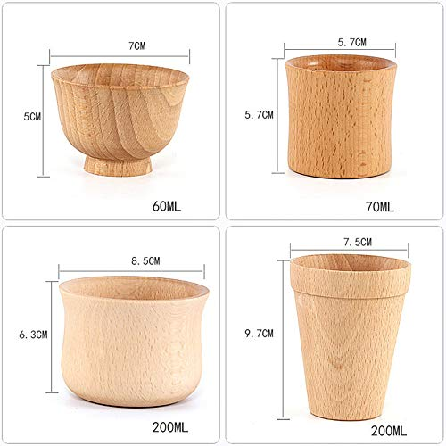 New Japanese Cup Wooden Coffee Cup Thermal Insulation Tea Cup Gift Health Glass&Bottle Halloween Onsale