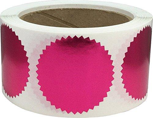 Metallic Rose-Umschlag Aufkleber Starburst Farbcodierschilder Zertifikat-Preis-Aufkleber 2-Zoll-runde Kreis-Punkte 500 Gesamt Adhesive Aufkleber auf einer Rolle