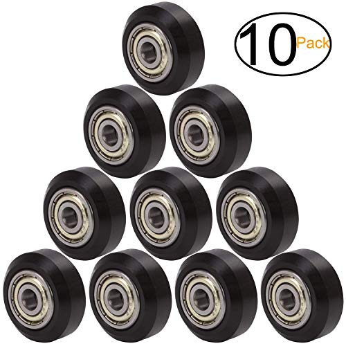 Zeelo Equipment Big Plastic Pulley Wheel with Bearings Passive Round Wheel Idler Pulley Gear Perlin Wheel for Ender 3, CR-10, CR-10S (Pack of 10 pcs) (Big Wheel)