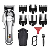 Hair Clippers Case for Men or Kids Low Noise Cordless Metal Haircut Clipper Electric Hairclippers Set Professional Hair Cutting Kit Easy to Use for Starter Rechargeable Haircut Set with LED Display