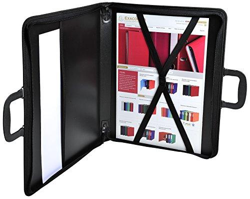 Clairefontaine ZPC-A2Z Press Book Zeichenmappe (PP, Reißverschluß, Griff, innen Gummizüge, Schutzkappen zum Abstellen, für DIN A2, 42 x 59,4 cm) schwarz