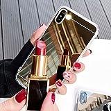 LIUYAWEI Funda de Espejo de Oro Rosa para Samsung Galaxy S20 A51 A70 A50 A10 A20 A30 A80 A10S A20E A750 Note 10 9 8 S10 S9 S8 Plus S10E Cubierta, Dorado, para Samsung A71