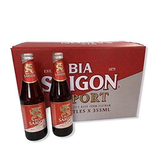 12 Flaschen 0,355l BIA Saigon Export Bier hell, das Original aus Vietnam