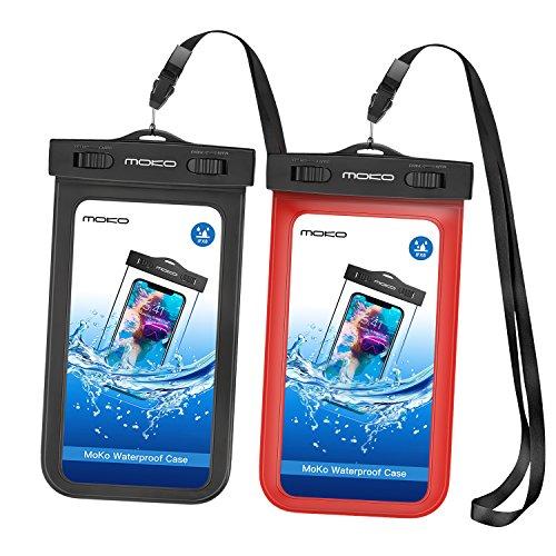 MoKo Fundas para teléfonos móviles (Funda de protección, Universal, iPhone 12,12 Mini,12 Pro,iPhone 7, 6S Plus, 7 Plus, 6S/6/5S/SE, Galaxy S8 Plus, S8/S6/S7 Edge, S5, J3, LG, Negro, Rojo