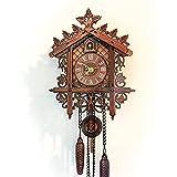 Reloj de Pared de Cuco de la Antigua, Reloj de Pared de Cuco Vintage Wall Clock Home Decor Regalo excelente de Madera