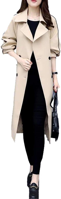 Jxfd Women's Winter DoubleBreasted Wool Blend Trench Coat Winter Jacket