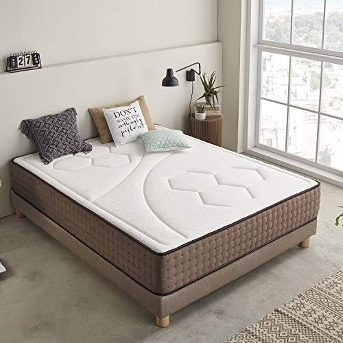 Moonia - Materasso Viscoelastico 110X190CM - Materasso Alta Durata - Materasso Antiacaros - Spessore +/- 27 cm - Modello Premium Original Care