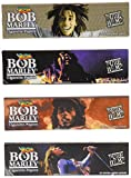 Bob Marley King Size Cigarette Rolling Papers, 4 Packs