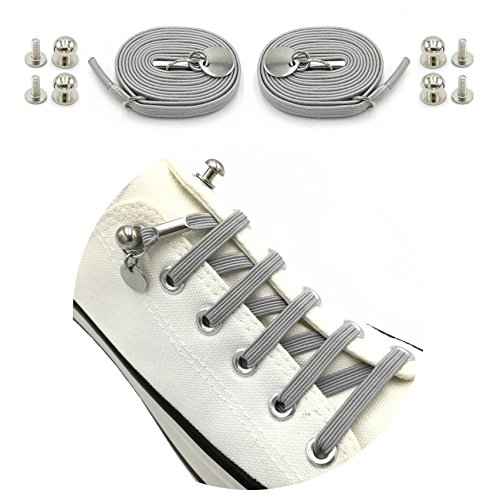 Weathan Elastic No Tie Shoelaces One Handed Shoe Laces for Adults and Kids