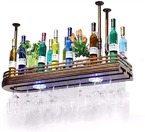 Clásico Estante de Vino Vidrio Colgador revés Negro multisize cáliz Rack Living Room Bar Decoración