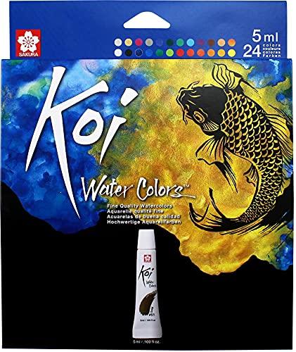 Sakura KOI WTRCLR 5ML PK, 4.06 Fl Oz (Pack of 1), 24 Colors