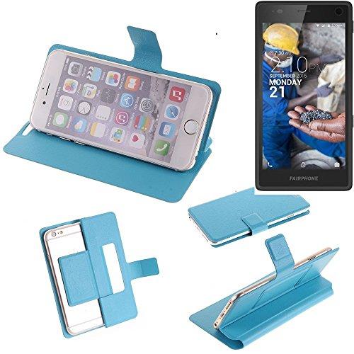K-S-Trade Flipcover Kompatibel Mit Fairphone Fairphone 2 Schutz Hülle Schutzhülle Flip Cover Handy Case Smartphone Handyhülle Blau