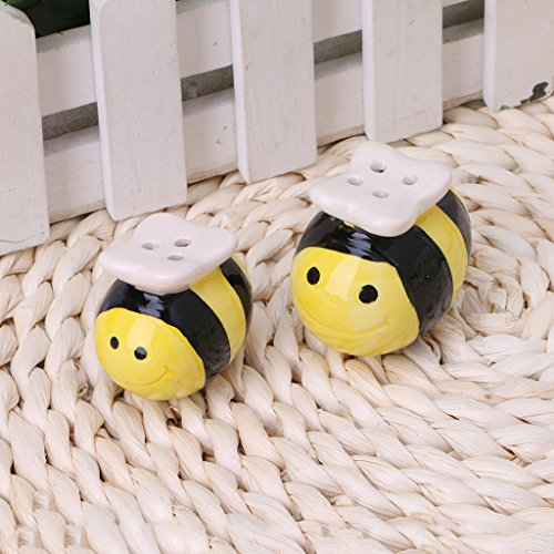 SimpleLife Ceramic Bee-Muster Salz Pfefferstreuer Hochzeit Party Bag Füller Geschenk